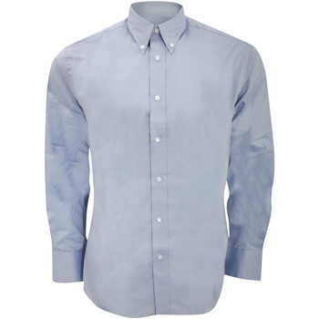 textil Herre Skjorter m. lange ærmer Kustom Kit KK188 Light Blue