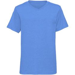 textil Dreng T-shirts m. korte ærmer Russell J166B Blue Marl