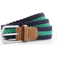 Accessories Herre Bælter Asquith & Fox Two Colour Stripe Navy/Kelly
