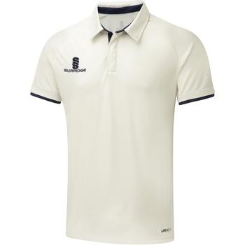 textil Herre Polo-t-shirts m. korte ærmer Surridge SU013 White/Navy Trim