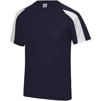 textil Herre T-shirts m. korte ærmer Just Cool JC003 French Navy/Arctic White