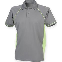 textil Herre Polo-t-shirts m. korte ærmer Finden & Hales Piped Gunmetal Grey/Lime