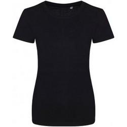 textil Dame T-shirts m. korte ærmer Ecologie EA01F Jet Black