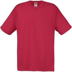 textil Herre T-shirts m. korte ærmer Fruit Of The Loom 61082 Brick Red