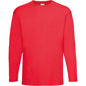 textil Herre Langærmede T-shirts Universal Textiles 61038 Bright Red