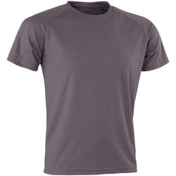 textil T-shirts m. korte ærmer Spiro Aircool Grey