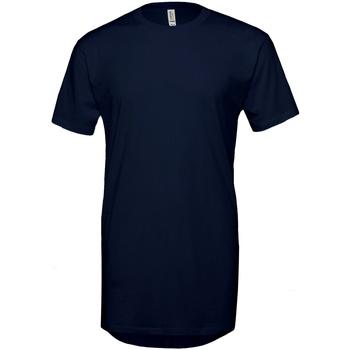 textil Herre T-shirts m. korte ærmer Bella + Canvas Long Body Navy