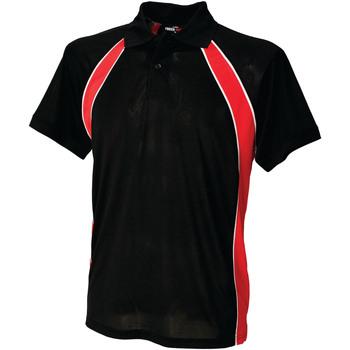 textil Herre Polo-t-shirts m. korte ærmer Finden & Hales LV350 Black/Red/White