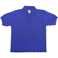 textil Børn Polo-t-shirts m. korte ærmer B And C PK486 Royal
