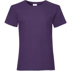 textil Pige T-shirts m. korte ærmer Fruit Of The Loom Valueweight Purple