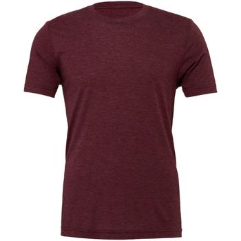 textil Herre T-shirts m. korte ærmer Bella + Canvas CA3413 Maroon Triblend