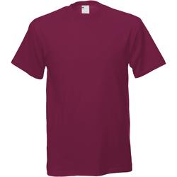 textil Herre T-shirts m. korte ærmer Universal Textiles 61082 Oxblood