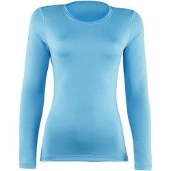 textil Dame Langærmede T-shirts Rhino RH003 Light Blue