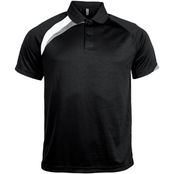 textil Herre Polo-t-shirts m. korte ærmer Kariban Proact PA457 Black/ White/ Storm Grey