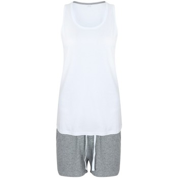 textil Dame Pyjamas / Natskjorte Towel City TC052 White/Heather Grey