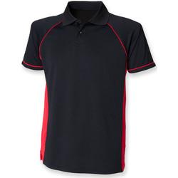textil Herre Polo-t-shirts m. korte ærmer Finden & Hales LV310 Black/Red