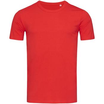 textil Herre T-shirts m. korte ærmer Stedman Stars Morgan Crimson Red