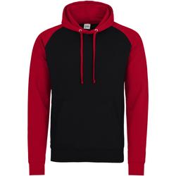 textil Herre Sweatshirts Awdis JH009 Jet Black/Fire Red