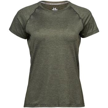 textil Dame T-shirts m. korte ærmer Tee Jays Cool Dry Olive Melange
