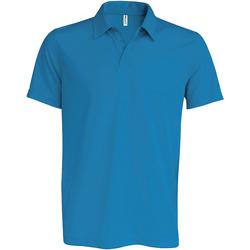 textil Herre Polo-t-shirts m. korte ærmer Kariban Proact PA482 Aqua Blue