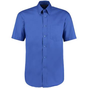 textil Herre Skjorter m. korte ærmer Kustom Kit KK109 Royal Blue