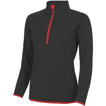 textil Dame Sportsjakker Awdis JC036 Jet Black/ Fire Red