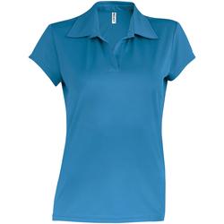 textil Dame Polo-t-shirts m. korte ærmer Kariban Proact PA483 Aqua Blue