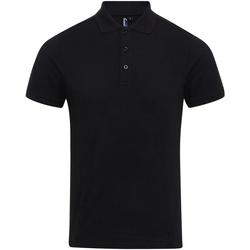 textil Herre Polo-t-shirts m. korte ærmer Premier PR630 Black
