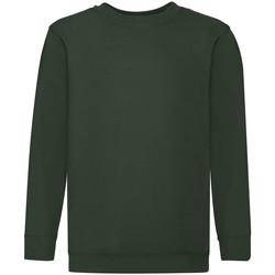 textil Børn Sweatshirts Fruit Of The Loom 62041 Bottle Green