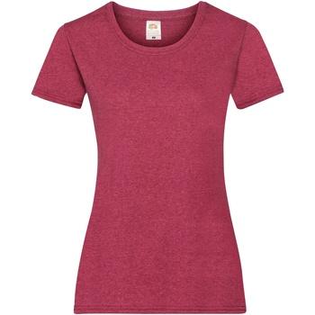 textil Dame T-shirts m. korte ærmer Fruit Of The Loom 61372 Vintage Heather Red