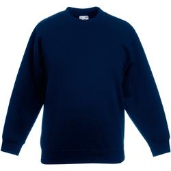 textil Børn Sweatshirts Fruit Of The Loom 62031 Deep Navy