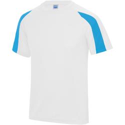 textil Herre T-shirts m. korte ærmer Just Cool JC003 Arctic White/Sapphire Blue