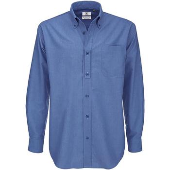 textil Herre Skjorter m. lange ærmer B And C SMO01 Blue Chip