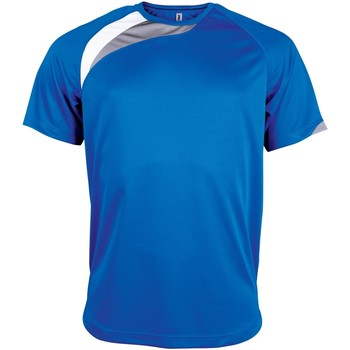 textil Herre T-shirts m. korte ærmer Kariban Proact PA436 Royal Blue/ White/ Storm Grey