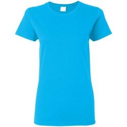 textil Dame T-shirts m. korte ærmer Gildan Missy Fit Heather Sapphire