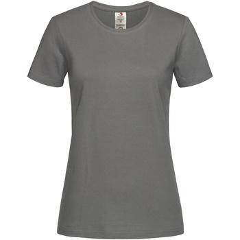 textil Dame T-shirts m. korte ærmer Stedman  Real Grey