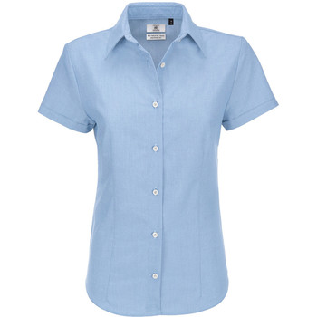 textil Dame Skjorter / Skjortebluser B And C SWO04 Blue Chip