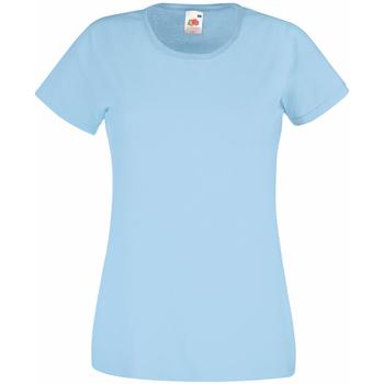 textil Dame T-shirts m. korte ærmer Universal Textiles 61372 Light Blue