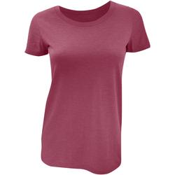 textil Dame T-shirts m. korte ærmer Bella + Canvas BE8413 Maroon Triblend