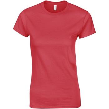 textil Dame T-shirts m. korte ærmer Gildan Soft Antique Cherry Red