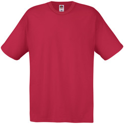 textil Herre T-shirts m. korte ærmer Universal Textiles 61082 Dark Red