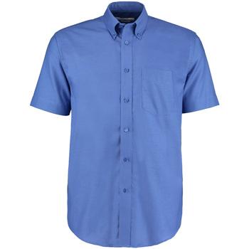textil Herre Skjorter m. korte ærmer Kustom Kit KK350 Italian Blue