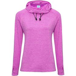 textil Dame Langærmede T-shirts Awdis Cowl Neck Raspberry Melange