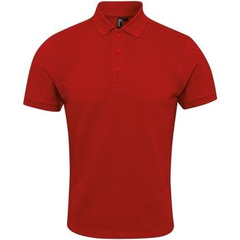 textil Herre Polo-t-shirts m. korte ærmer Premier PR630 Red