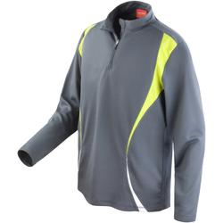 textil Dame Sweatshirts Spiro S178X Charcoal/Lime/White