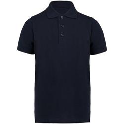 textil Dreng Polo-t-shirts m. korte ærmer Kustom Kit KK406 Navy Blue