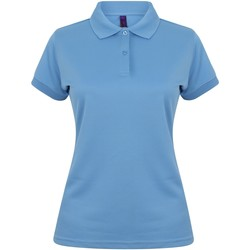 textil Dame Polo-t-shirts m. korte ærmer Henbury Coolplus Mid Blue