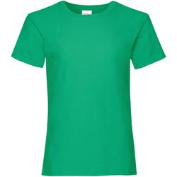 textil Pige T-shirts m. korte ærmer Fruit Of The Loom Valueweight Kelly Green