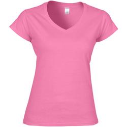 textil Dame T-shirts m. korte ærmer Gildan Soft Style Azalea