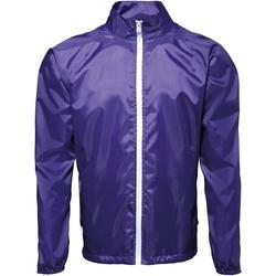 textil Herre Vindjakker 2786  Purple/ White